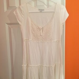 American Eagle Outfitters Dresses - American Eagle Cream Layered Dress